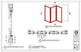 folded folding doors drawing door dwg u cad block aluminium how to draw a