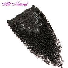 Beste Koop Ali Natuurlijke 4b 4c Kinky Krullend Clip In Human Hair