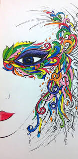 37 Best Fanciful Faces Images On Pinterest Adult Coloring Funny Coloring Book Artlll L