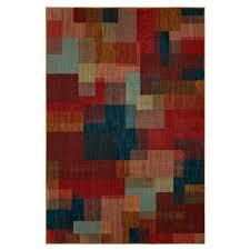 remarkable turquoise and orange area rug mohawk home milos garnet 8 ft x 10 575045 the depot
