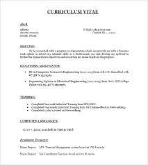Resume Format For Freshers Pdf Freshers Resume Templates Latest ...