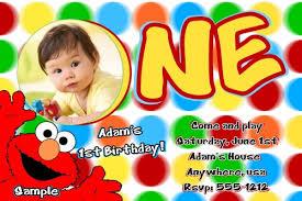 1st Birthday Party Invitation Template Elmo Sesame Street Birthday Party Invitations