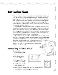 Word Families Template Reading Success Mini Books Word Families Printables