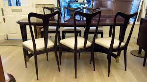 Italian Dining Table Set Vintage Italian Dining Chairs And Table By Guglielmo Ulrich Set