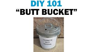 building your own cigarette disposal container diy