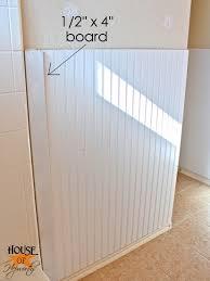 bead board in bathroom
