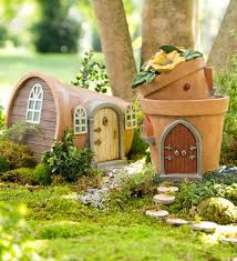 miniature fairy garden solar flower pot