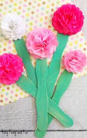 Paper Flower Tissue Paper Tissue Paper Flower Craft Easy Peasy And Fun