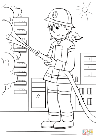 Small Picture Girl Firefighter coloring page Free Printable Coloring Pages