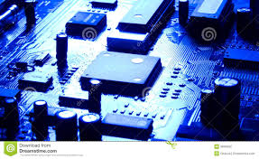 Light Based Computer Chips Computer Chip With Bright Reflecting Light Stock Photo