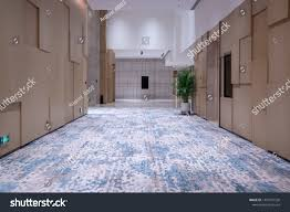 Carpets Plus Design Hotel Corridor Wooden Finishes Floor Ceiling Royalty Free