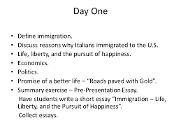 the lost children italian immigrants life liberty and the  collect essays day one define immigration discuss reasons why italians immigrated to the u s