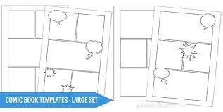 free printable ic book templates panel template 6 blank strip