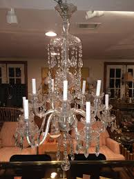 irish elegant ten arm crystal chandelier in the style of waterford for