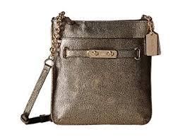 Coach Metallic Swingpack Crossbody Shoulder Bag, 36502 (Light Gold)