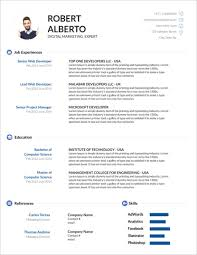 45 Free Modern Resume Cv Templates Minimalist Simple Clean Design