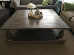 huge square coffee table on ana white