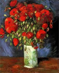 vincent van gogh vase with red poppies summer paris oil on canvas 56 x 46 cm wadsworth atheneum hartford