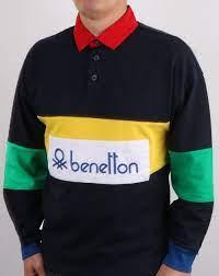Benetton Rugby Shirt Navy