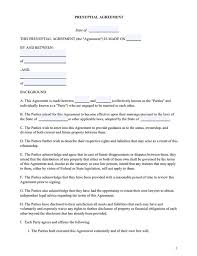 Free Prenup Form Sample Of Prenuptial Agreement Movavi