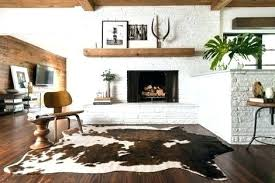 faux animal skin rug brown dash cowhide rugs uk canada fake
