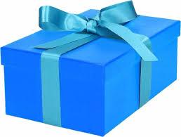 Afbeeldingsresultaat voor cadeau in blauw papier