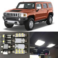 Us 12 59 10 Off 13pc White Canbus Auto Interior Led Light Bulbs Kit For 2004 2005 2006 2007 2008 2009 2010 Hummer H3 Map Dome License Plate Lamp In