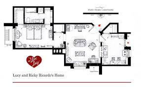 The Plan Of Lucy And Ricky Ricardou0027s First Classic New York City One Bedroom  Apartment