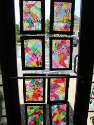 stained glass collage tissue paper