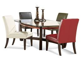 dining room glass top dining table rectangular on dining room and