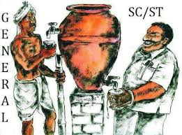 Image result for cartoons on reservation system in india