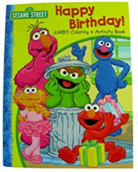 1 Sesame Street Happy Birthday Coloring Book Toys Games