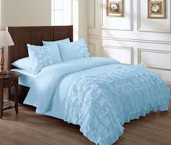 there s something so pretty about this sky blue ruffle bedding set for girls skyblue