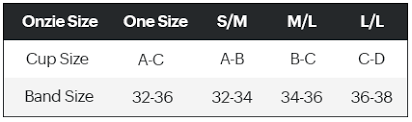 Onzie Bra Size Chart Pound Rockout Workout