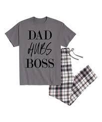 Chat Hubs Nap Chat Charcoal Gray Plaid Dad Hubs Boss Pajama Set