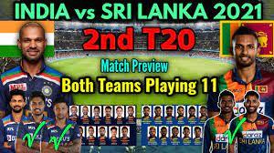 India vs Sri Lanka 2nd T20 Match 2021 ...