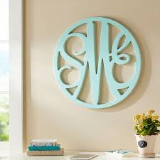 projects ideas wood monogram wall decor wooden cut out script pbteen m large natural 24