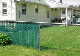 Chain Link Fence Slats Residential Green Vinylcoated Chainlink On Design Decorating