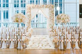 indoor wedding arches. indoor flower petal aisle runner wedding arches