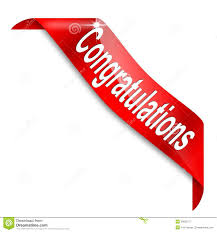 promotion congratulations stock photos images pictures  red narrow corner the word congratulations royalty stock photography