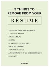 9 Things to Remove From Your Rsum Right Now | Advice, Resume writing and  Business