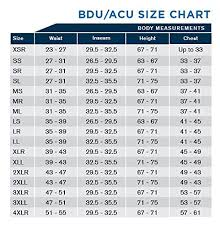 Ocp Female Size Chart Army Ocp Female Uniform Size Chart Www Bedowntowndaytona Com