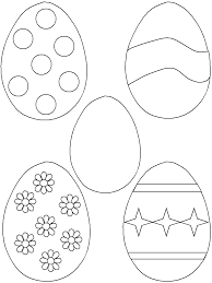 Small Picture Easter Egg Cutouts Coloring Home