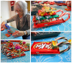 these festive candy sleighs make for great giveaways to friends and neighbors though they might look a bit complicated these sleds are actually very easy