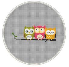 Owl Cross Stitch Pattern Impressive Owls Cross Stitch Pattern Counted Cross Stitch Pattern Etsy