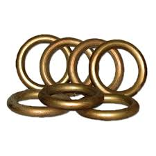 historical gold wood rings set 7 for use with 2 in