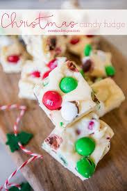 <b>Christmas Candy</b> Cookie Dough Fudge