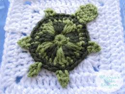 Crochet Sea Turtle Applique Pattern