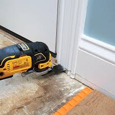cutting the door jamb
