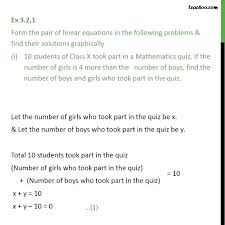 finding a solution to a linear equation in two variables math mathematics definition math calculator